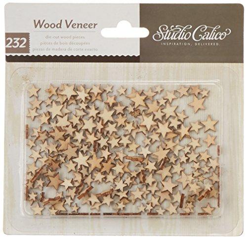 Classic Calico 2 Laser-Cut Wood Veneer Shapes-Tiny