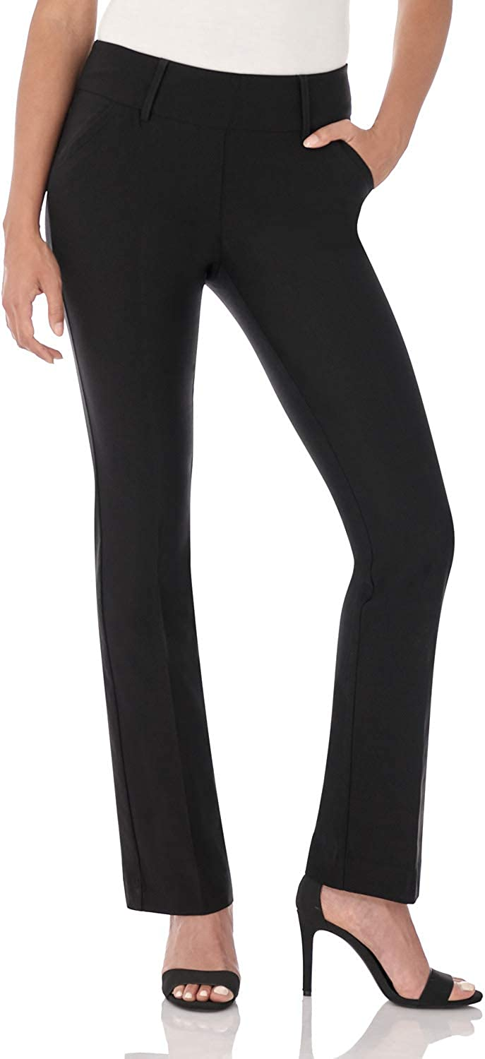 Rekucci Women's Ease into Comfort Classic Bootcut Pant w/Tummy Control