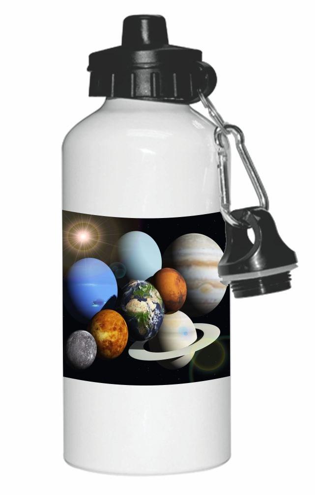 Rikki Knight Solar System Planets Design 20oz Sports Water Bottle Sport Bottle Flip Top with Carabiner