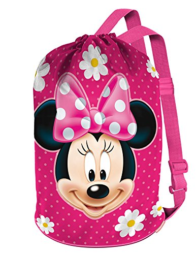 Karactermania Minnie Mouse Flowers Bolsa de tela y de playa, 40 cm, Rosa