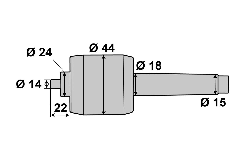 PAULIMOT mitlaufende Aufnahme f/ür Mini-Drehfutter MK2