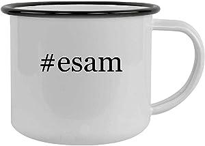 #esam - 12oz Hashtag Camping Mug Stainless Steel, Black