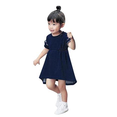 Btruely Herren Recién nacido Infantil Bebé Niña Vestido de princesa sólido con volantes vestidos de fiesta: Amazon.es: Ropa y accesorios