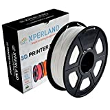 XPERLAND 3D Printer PLA Filament WHITE 1.75 mm, Dimensional Accuracy +/- 0.02 mm, 1KG (2.2lbs) Spool, For Most 3D Printers and 3D Pens - 1.75mm White