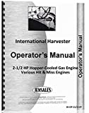 International Harvester Various Hit & Miss Hopper Cooled 2 1/2 HP Engines Operators & Parts Manual