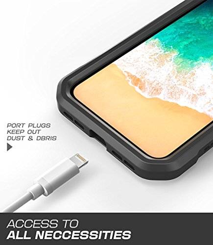 iPhone X Armband, SUPCASE Easy Fitting Sport Running Armband Case for Apple iPhone X/iPhone 10 2017 Release (Black) by SUPCASE (Image #5)