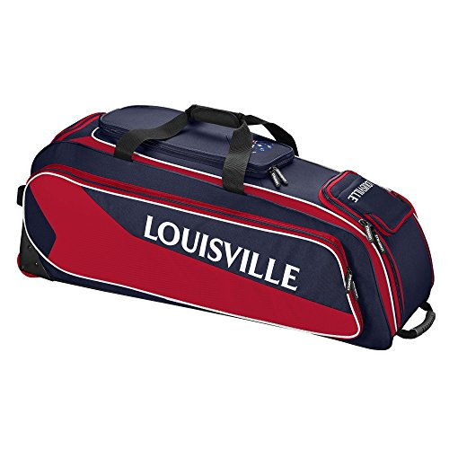 Louisville Slugger Prime Rig Wheeled Bag - Navy