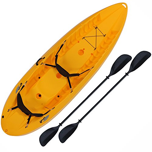 (Lifetime 90118 Manta Tandem Sit on Top Kayak with Paddles and Backrests, 10 Feet, Yellow)