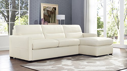 Amazon.com: Natuzzi Editions Galileo Cream Leather Right Arm ...