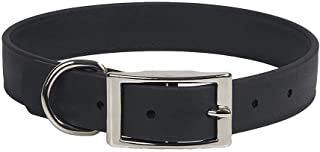 product image for Mendota Pet Durasoft Imitation Leather Collar - Standard Collar - Made in The USA - Waterproof, Odor Resistant - Black, 1 in x 22 in (Wide)