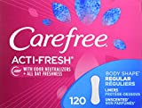 Carefree Acti-Fresh Panty Liners, Regular, Unscented - 120 Count