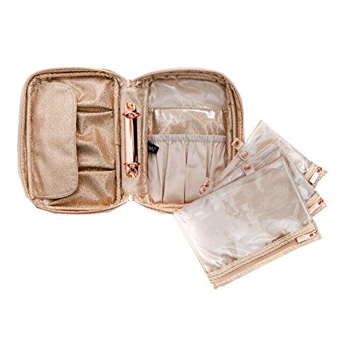 PurseN Lexi Travel Cosmetic Makeup Organizer Lotus