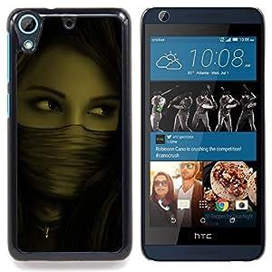 For HTC Desire 626 & 626s - woman mysterious ninja /Modelo de la piel protectora de la cubierta del caso/ - Super Marley Shop -