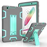 lg g pad ii 8 3 lte LG G Pad X 8.0 Case, LG G Pad III 8.0 Cover, Kuteck Defender Armor Hybrid Case Full Body Cover with Stand for LG G Pad 3 8.0 / G Pad X 8.0 + Stylus Pen (Gray/Teal)