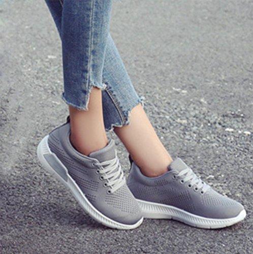 MEI zapatos UK4 zapatos zapatos deportivos o CN36 zapatos malla aumentar EU36 estudiantes US6 deportivos casuales zapatos oto de xawvAEx