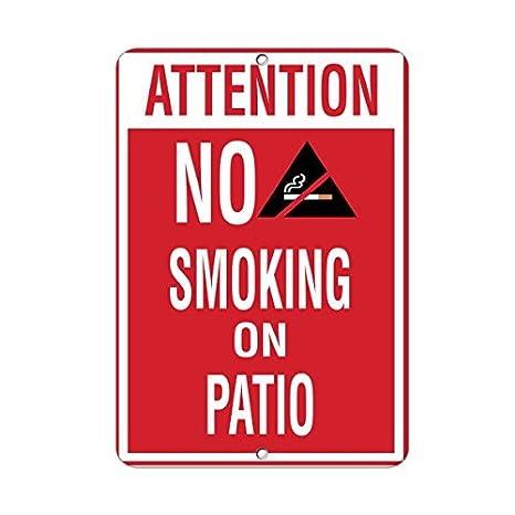 Atención no fumar en patio actividad piscina divertido ...