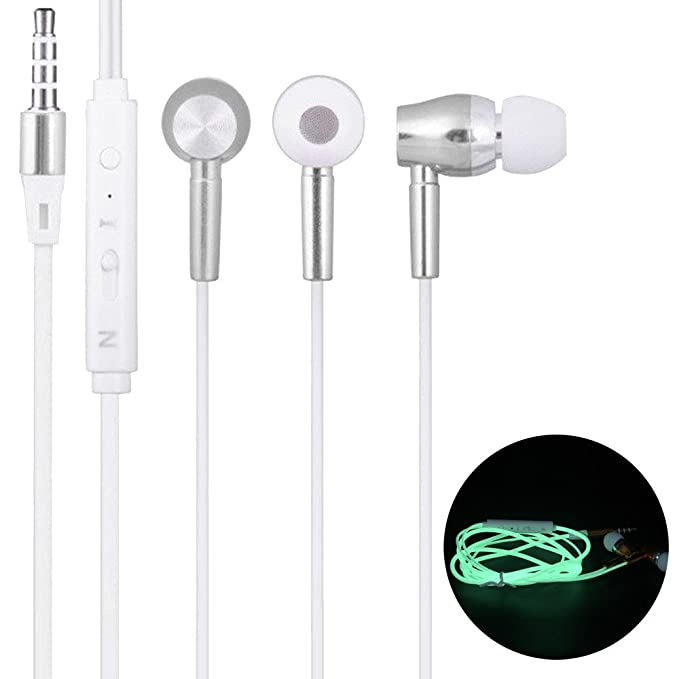 Amazon.com: GamingHeadset, UNBRUVO 3.5mm in Ear Stereo Luminous Headphone Headset Super Bass Music Earphone Earbuds: Computers & Accessories