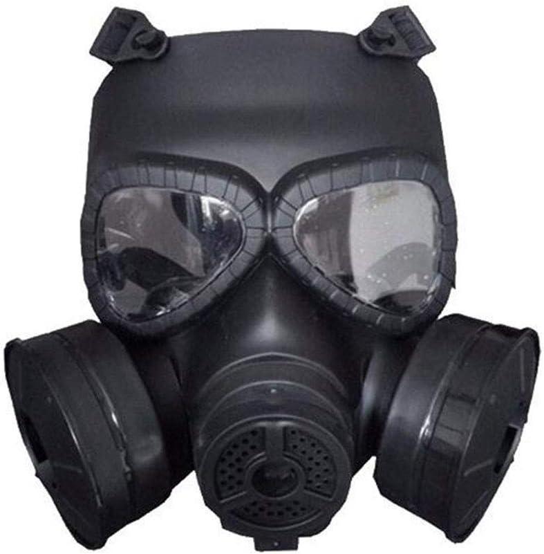 XDD Filtro de Aire de máscara Protectora de 360 °,Protección de máscara de Gas Máscaras Medias Protección de Ojos Protección respiratoria,Negro