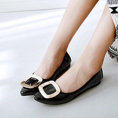 Suelo Negro GAOLIM Plana Zapatos Mujer Punta Embarazadas Para Para De Otoño Mujeres Trabajar Con Para Negra Base Luz Tortillas Zapatos b Blando 7rqwzR7