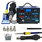 JOO LIFE 2 in 1 SMD Soldering Iron Welder 862D+ Hot Air Gun Rework Station LED Display W/4 Nozzle