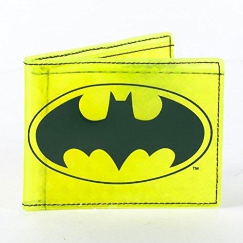 DC Comics Batman Shield Amazing Fat Free Yellow Bi Fold Costume (Fat Bat Costume)