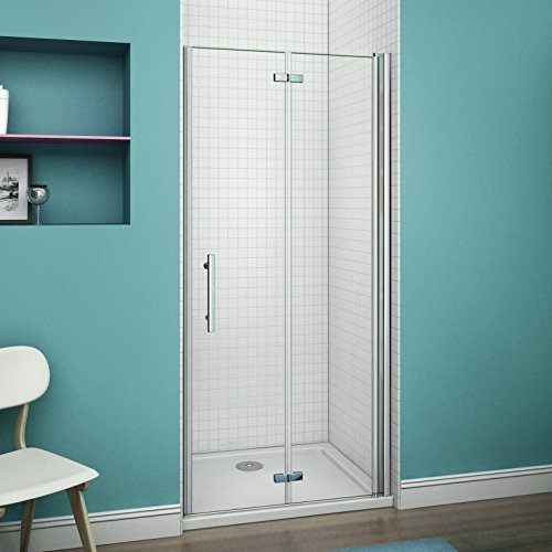 Perfect 900mm Frameless Shower Bifold Door 6mm Glass Cubicle Shower Enclosure