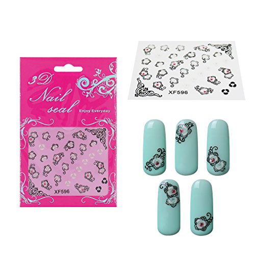 Elite99 3D Design Nail Art Stickers with Rhinestones Collect