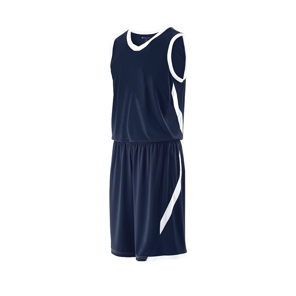 Holloway Youth Lateral Dry Excell Basketball Jersey (Youth Small, True Navy/White) by Holloway
