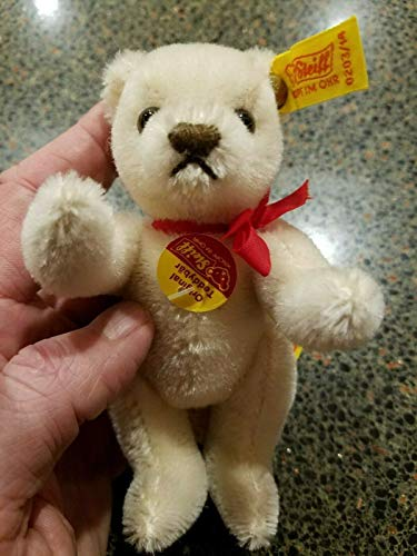 (Kingdom Collectibles STEIFF Miniature Mohair Jointed Bear White Teddy 5