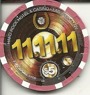 $5 hard rock 11/11/11 las vegas casino chip new edition
