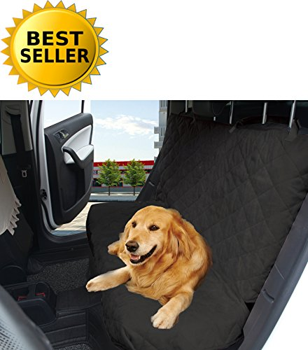 Elegant Comfort Diamond Design%100 Waterproof Premium Quality Micro-Suede Bench Car Seat Protector Cover (Entire Rear Seat) for Pets - Ties to Stop Slipping Off The Bench, - Small Bench Microsuede