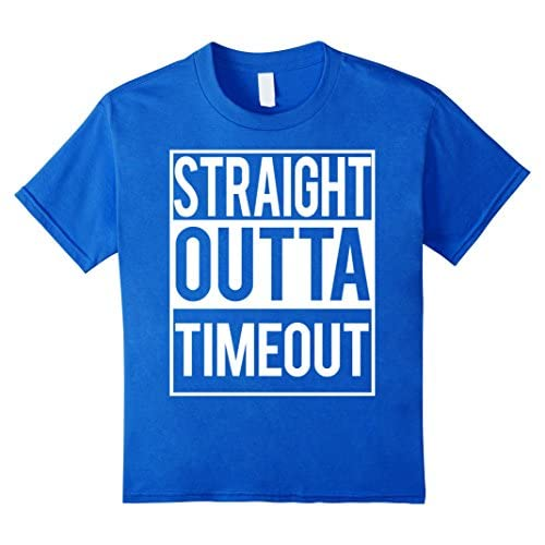 cheap Straight outta timeout T Shirt funny kids youth boys tee free shipping