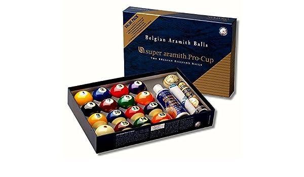 Set de bolas de Super Aramith Pro Cup Value Pack 57,2 mm: Amazon ...