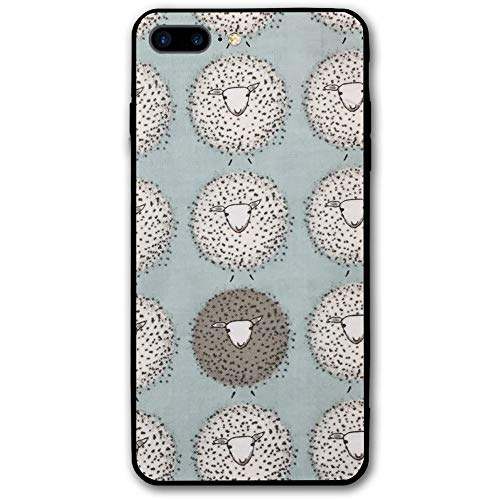5.5Inch iPhone 8 Plus Case Sheep Pattern Anti-Scratch Shock Proof Hard PC Protective Case Cover