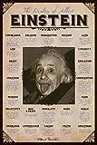 Poster Albert Einstein herausgestreckte Zunge - große Zitate - Größe - Maxiposter