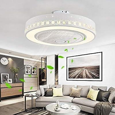 FXC LED Moderno Luz Ventilador de Techo con Mando a Distancia ...