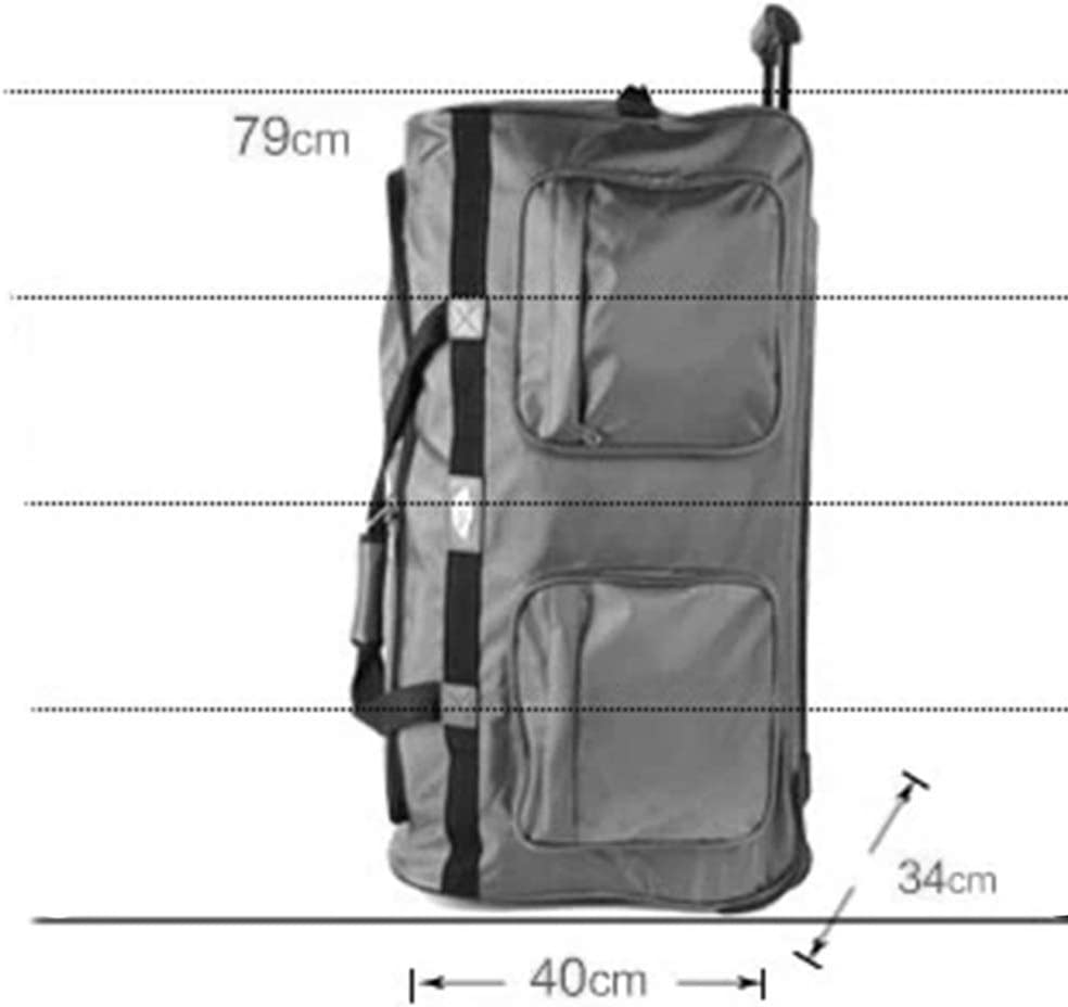 Color : Green, Size : 794034cm Cabin Size Approved Roller Travel Bag Hand Luggage Wheeled Trolley Holdall Duffle Carry Bag with Wheels Lightweight Overnight Telescopic Frame ZHANGAIZHEN
