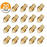 20PCS MK8 Nozzle 0.4mm Genenic 3D Printer Extruder Nozzle Parts MK8 Extruder Head for Creality Cr10