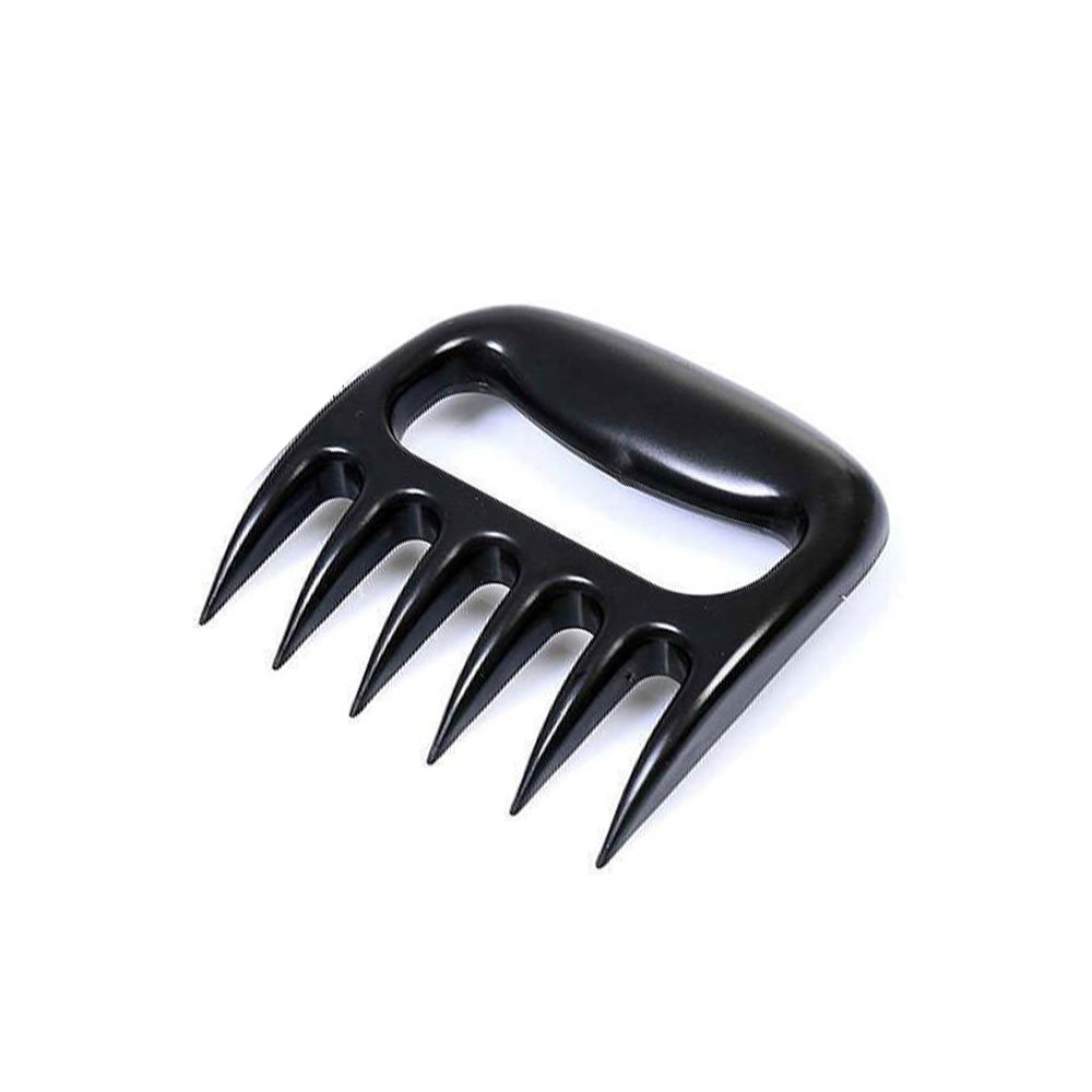 Happybuy 1 Pack Meat Shredder Bear Claws Pulled Pork Puller BBQ Fork Barbecue Tool (1Pack Black)