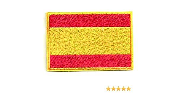 losparches Parche bordado termoadhesivo BANDERA ESPAÑA 7CM x 5CM ...
