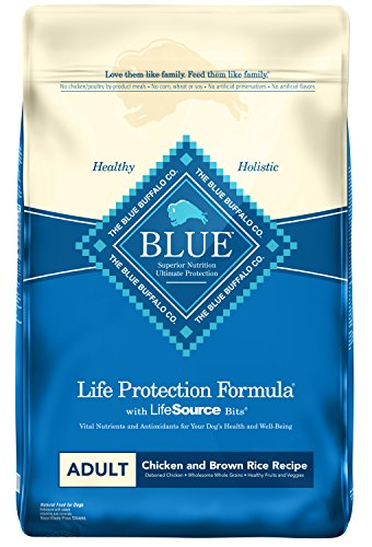 Blue Buffalo Life Protection Formula Natural Adult Dry Dog Food, Chicken and Brown Rice 15-lb