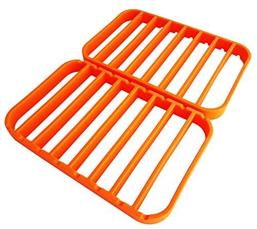 Extra Large Roasting Racks - Silicone Roasting Racks for Roasting Pans| Baking Racks for Oven Use - Roasting Racks for Oven Use - Orange - by STAN BOUTIQUE (Baking Pan Use Silicone)