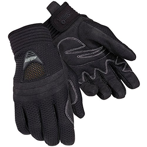 Master Motorcycle Gloves (Tour Master Airflow Mens Textile Sports Bike Motorcycle Gloves - Black / X-Large)