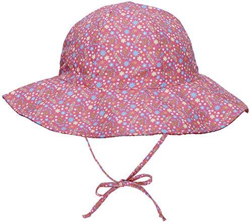 SimpliKids UPF 50+ UV Ray Sun Protection Wide Brim Baby Sun Hat,Pink Flower,0-12 (Rays Classic Wool)