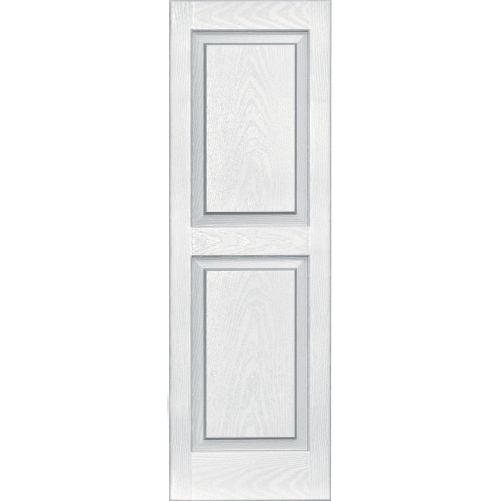 Vantage 3114043123 14X43 Raised Panel Shutter/Pair 123, White by Vantage