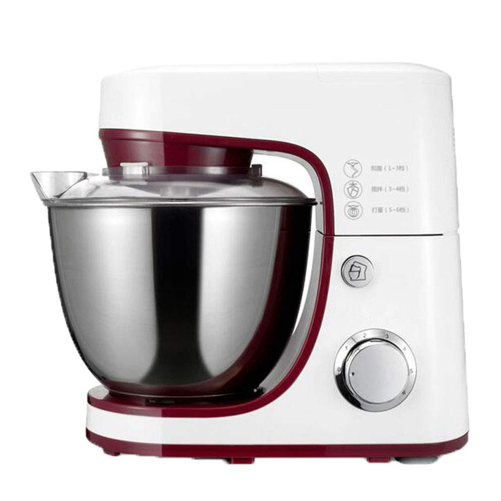 Ghxt Kitchen Aid Mixer, Electric 6 Speed Stand Mixer 4.2L Cake Mixer Kneading - White,EUplug