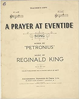 A Prayer At Eventide (Song) No  2 In F (Small Format Sheet