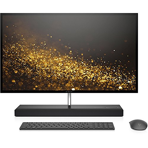 HP ENVY 27-inch All-in-One Computer, Intel Core i7-7700T, NVIDIA GeForce GTX 950M, 16GB RAM, 1TB hard drive, 128GB SSD, Windows 10 (27-b110, Ash Silver) by HP (Image #1)'