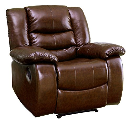 - 247SHOPATHOME IDF-RC6098BR Campton Recliner, One Size, Brown