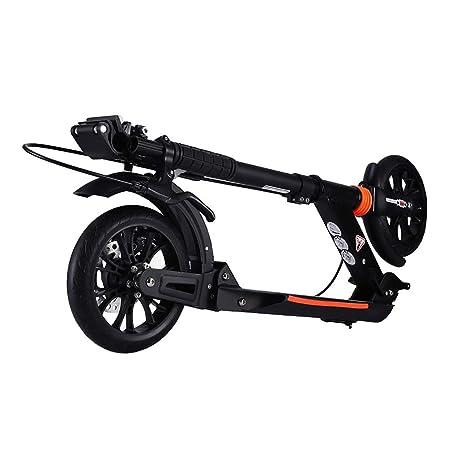 Scooter Patinete Negro con Doble Freno, Bicicleta de Ciudad ...